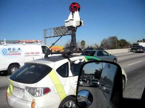 Ever wonder how they do google maps street views? ....I found the little guy.