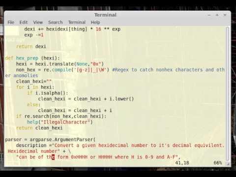 Convert hexadecimal to decimal in python pt 1