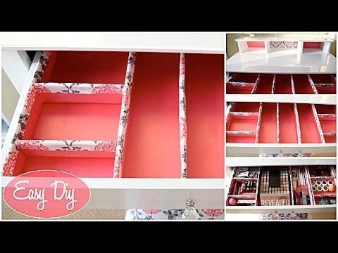 How To: Easy Custom Makeup Drawer Organizer $11 | Aseamae