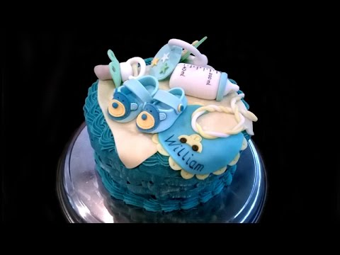 How to make a Baby Basket cake