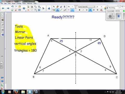 diagonals in isosceles trapezoids