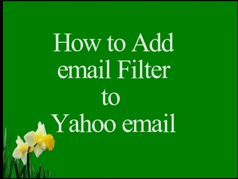 How to Add Email Filters to Yahoo Emails to Automate Move Action