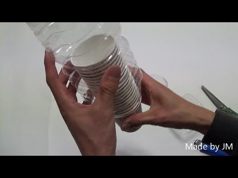 DIY paper cup dispenser