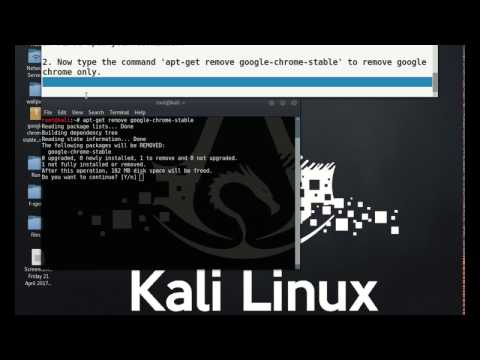 (Kali linux) How to uninstall google chrome?