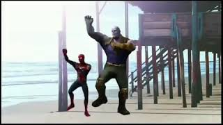 Funny Avengers Dance THANOS and SPIDERMAN