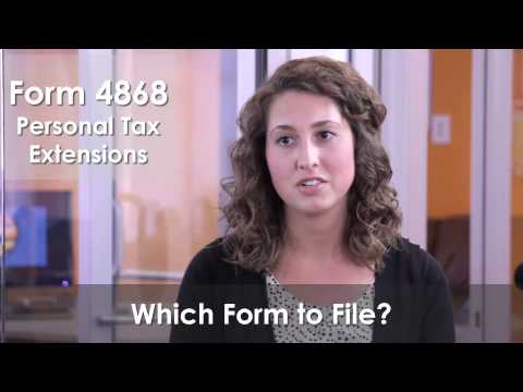How to File an IRS Form 4868