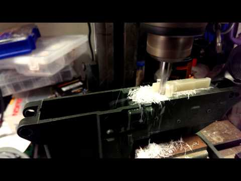 Milling out AR15 eplower on a cnc'd harborfreight(2)