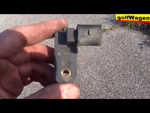 VW Golf 5 rear brake light switch replacement change replace removal location