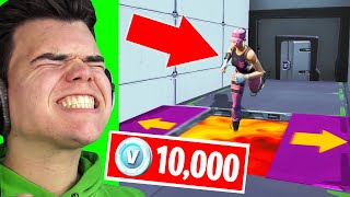 FINISH This DEATHRUN To WIN 10,000 V-Bucks! (Fortnite Challenge)