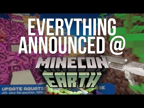 EVERYTHING ANNOUNCED AT MINECON EARTH!!! (OCEAN UPDATE!)