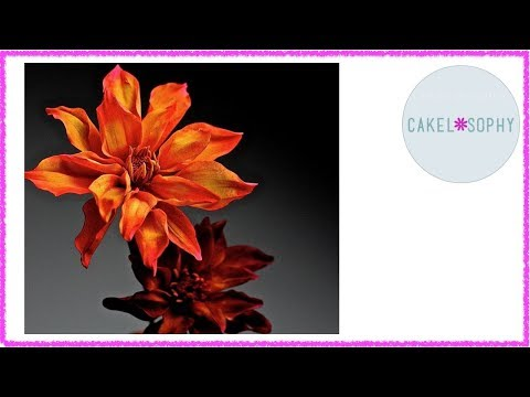 How to Make Dahlia Flower out of Gumpaste Cold Porcelain
