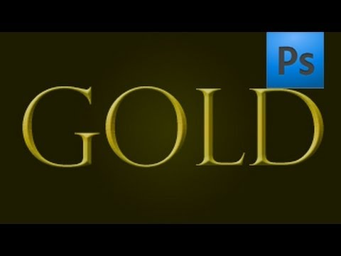 Adobe Photoshop / Gold Text Effect Tutorial (Download link in description)