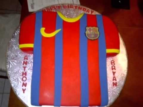 Happy Birthday Song (Football Jerseys Cakes in background)