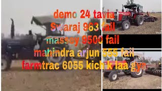 Mahindra Arjun Novo Vs Farmtrac 60 T20 Classic pulling 3MB