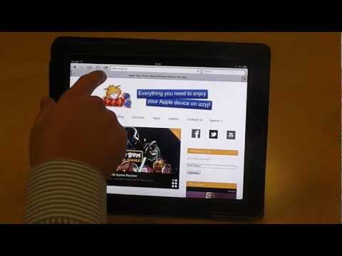 Add a web page to your homescreen on your iPad