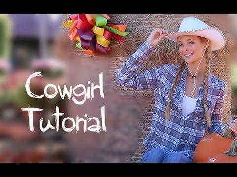 Cowgirl Makeup, Hair & Halloween Costume!