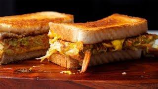 Download Egg & Cheese Toast Sandwich Recipe   Korean Street Food/Breakfast Toast Video