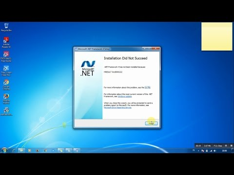 How to Fix Installation Did Not Succeed Net Framework HRESULT 0xc8000222