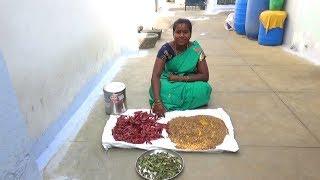 குழம்பு மிளகாய் தூள் அரைக்கும் முறை | Amala Village Food