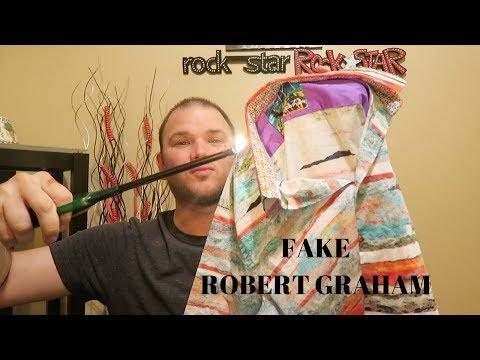 FAKE ROBERT GRAHAM shirt + Trip to Goodwill thrift store