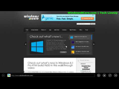 How to change the Homepage of Internet Explorer 11 using Modern-UI version of Windows 8.1 RTM