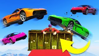 SURVIVE THE SUPER CAR ONSLAUGHT! - GTA 5 Funny Moments