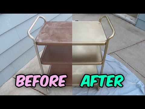 How To Refinish A Vintage Metal Cosco Tea Cart Bar Cart Utility Cart