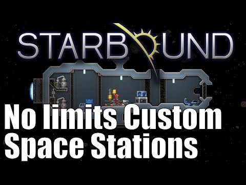 Starbound 1.3 No Limits Custom Space Stations Now Possible!