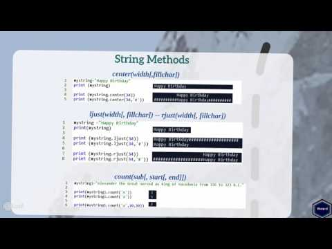 String  Methods Python - Part 1