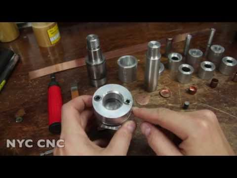 Making Copper Bullet Jackets: Machining Punching & Drawing Dies!  Part 2