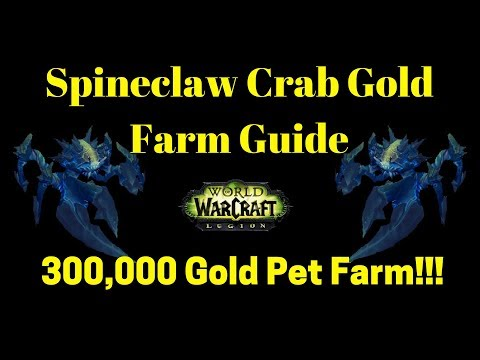 Spineclaw Crab Gold Guide 300k Battle Pet + More Insane Pets