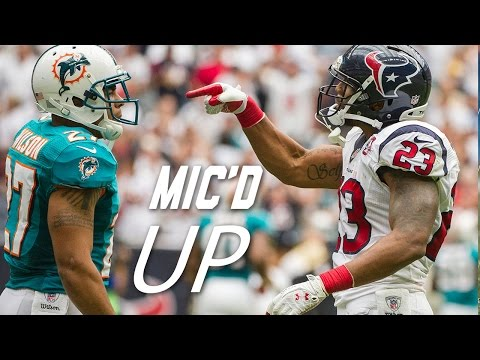 Arian Foster Mic'd Up for Clash with Dolphins (2012) | NFL