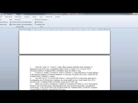 Inserting & Deleting Citations with EndNote