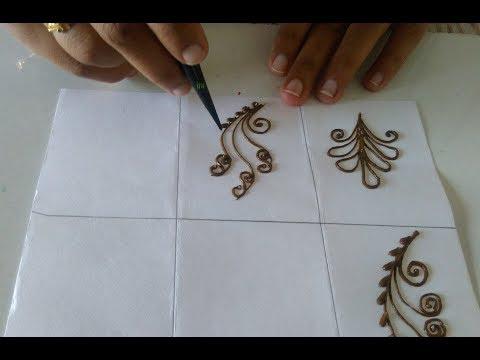 Simple mehndi design  basic mehndi design  easy mehndi tutorial 4