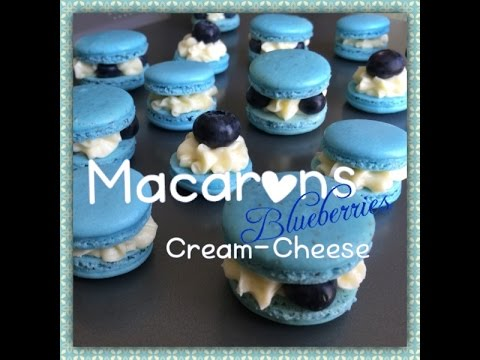 BlueBerry Macarons with Cream Cheese filling