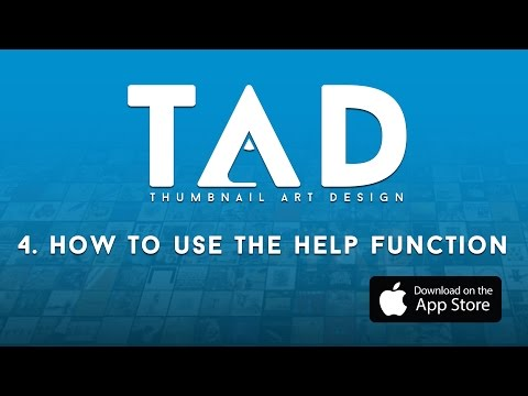 TAD (The Album Art App) -  How To Use the Help Function