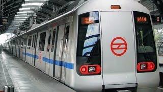 Metro  Delhi - World class train .