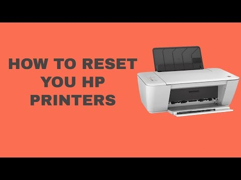 How to reset hp printers