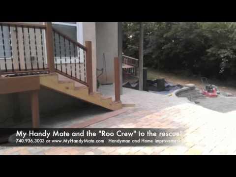 Custom Paver Patio Design Built Into Hillside Slope