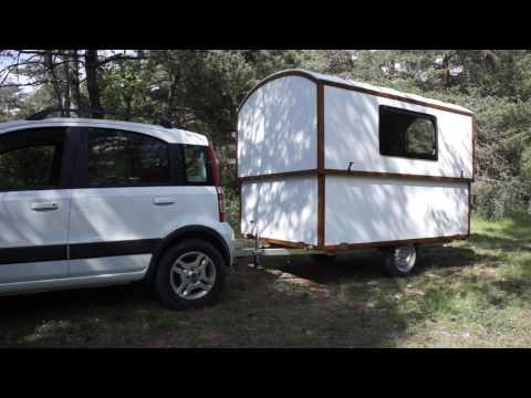 Woodenwidget Slidavan telescopic 'pop up' lightweight caravan