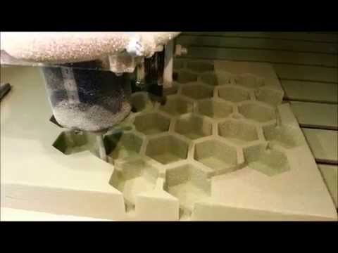 CNC mold cutting in foam
