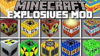 Minecraft EXPLOSIVES TNT MOD / BURN DOWN A CITY WITH YOUR TNT