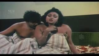 Doddanna Glamour Scene | Hot Romance With A Girl | Hongkongnalli Agent Amar Kannada Movie