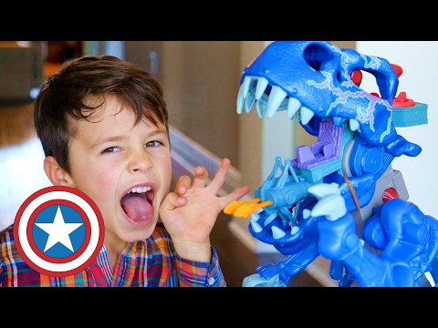 EPIC DINO BATTLE! Imaginext Ultra T-Rex Dinosaur Super Cool Toys