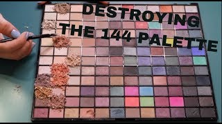 DESTROYING THE MAKEUP REVOLUTION 144 EYESHADOW PALETTE AND CREATING NEW | Vanessa Lopez