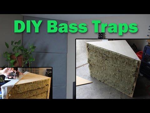 DIY Bass Traps: Home Studio Room Acoustics