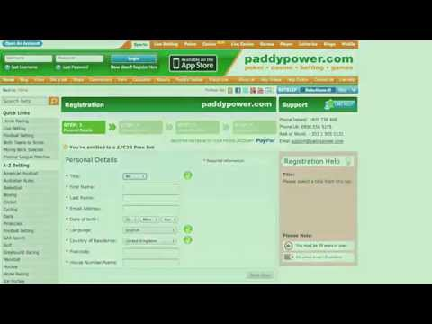 How To Bet With Paddy Power Online