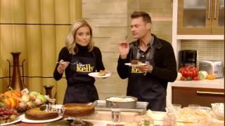 Kelly And Ryan Seacrest Bake Pumpkin Ricotta Cheesecake