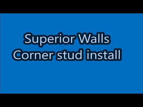 Superior walls corner stud framing for finishing basement with drywall