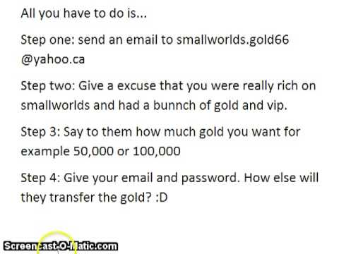 How to earn 100,000 gold on smallworlds (PROOF!)